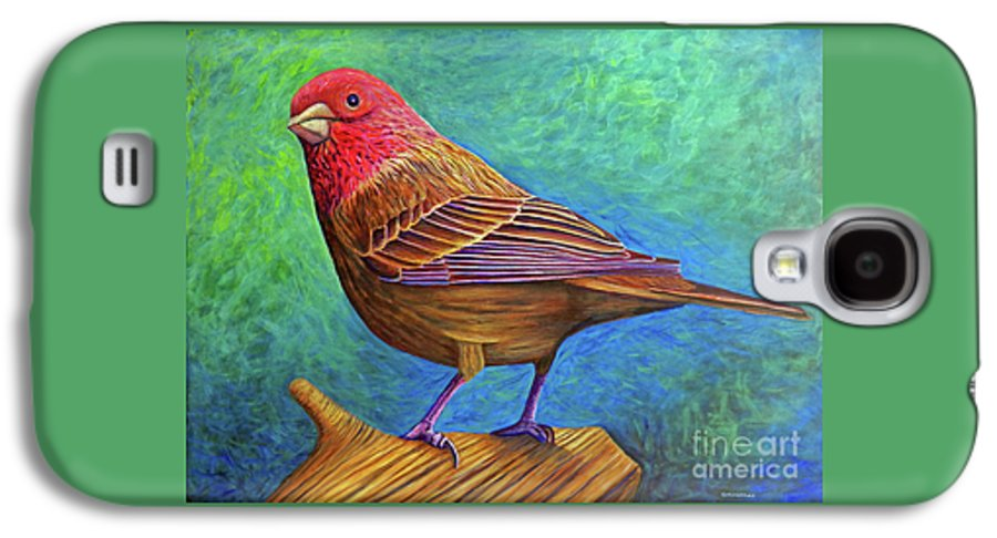 Bird Galaxy S4 Case featuring the painting Sacred Space by Brian Commerford