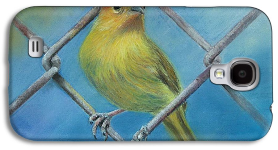 Bird Galaxy S4 Case featuring the painting Safron Finch by Ceci Watson