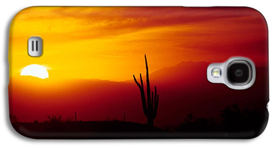 Arizona Galaxy S4 Case featuring the photograph Saguaro Sunset by Randy Oberg