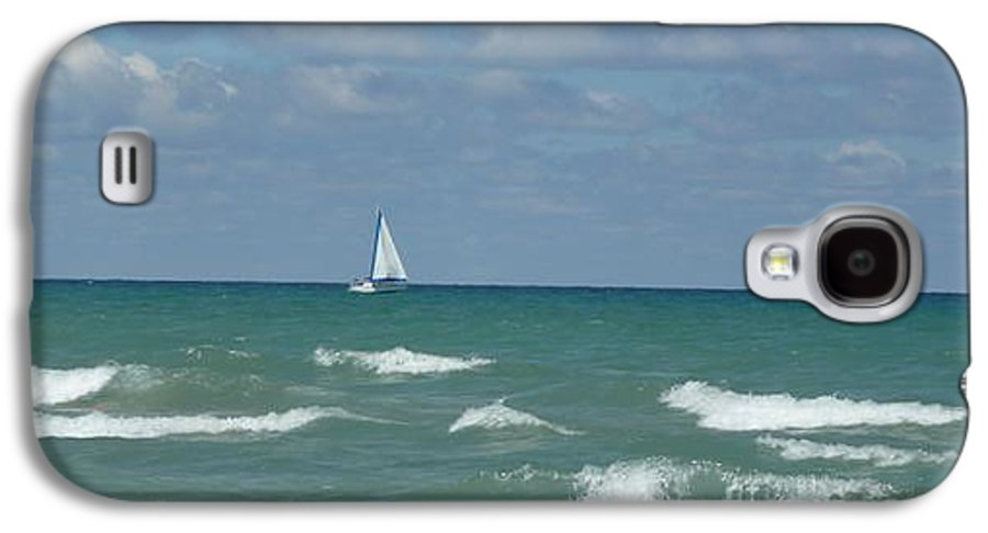 Scenery Galaxy S4 Case featuring the photograph Sailing Away On The Lake by Barb Montanye Meseroll