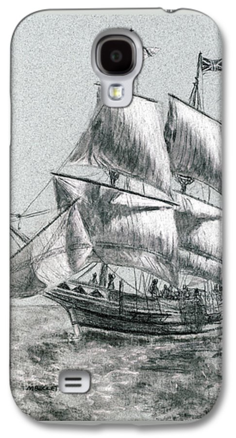 Seascape Galaxy S4 Case featuring the drawing Sailing by Michael Beckett