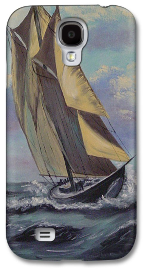Ocean Galaxy S4 Case featuring the painting Sailing by Quwatha Valentine