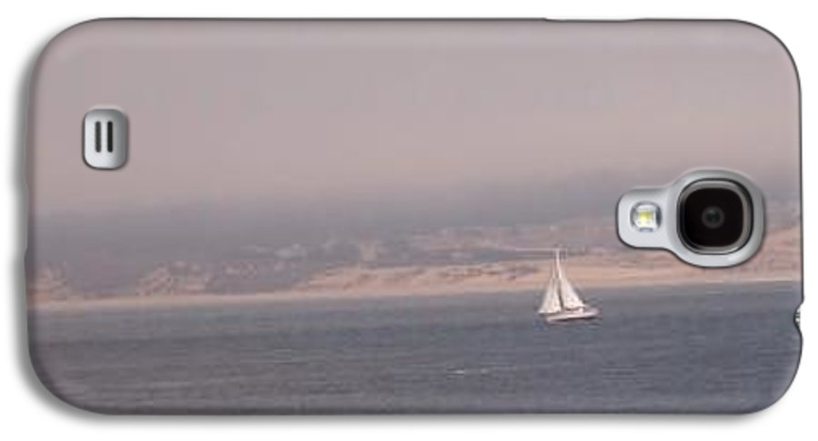 Sailing Sail Sailboat Boating Boat Ocean Pacific Bay Sea Seascape Nature Outdoors Marine Beach Galaxy S4 Case featuring the photograph Sailing Solo by Pharris Art