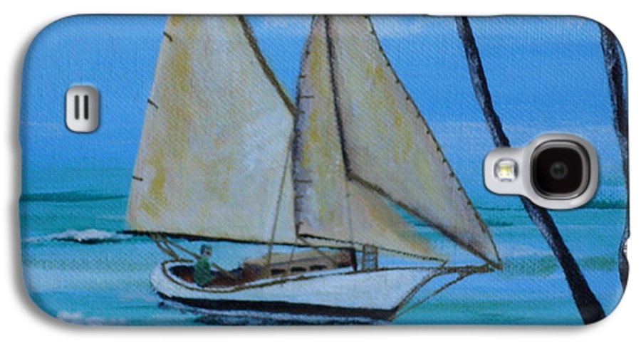 Sailboat Galaxy S4 Case featuring the painting Sailor's Dream by Susan Kubes