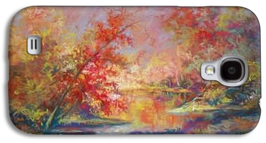 Landscape In Autumn Galaxy S4 Case featuring the painting Saline River View by Marlene Gremillion