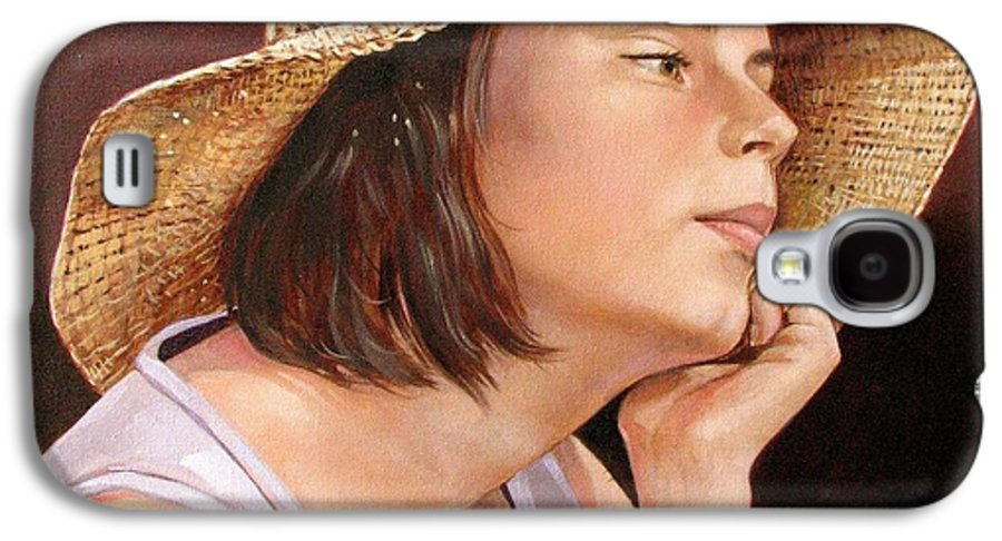Portrait Galaxy S4 Case featuring the painting Sammie by Jerrold Carton