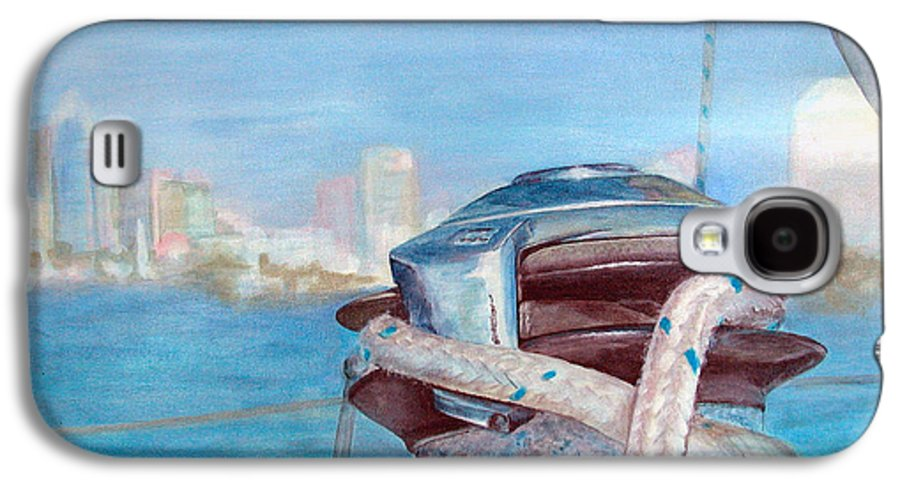 Landscape Galaxy S4 Case featuring the painting San Diego by Muriel Dolemieux