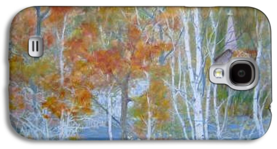 Church; Landscape; Birch Trees Galaxy S4 Case featuring the painting Sanctuary by Ben Kiger
