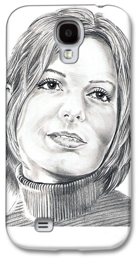 Drawing Galaxy S4 Case featuring the drawing Sandra Bullock by Murphy Elliott