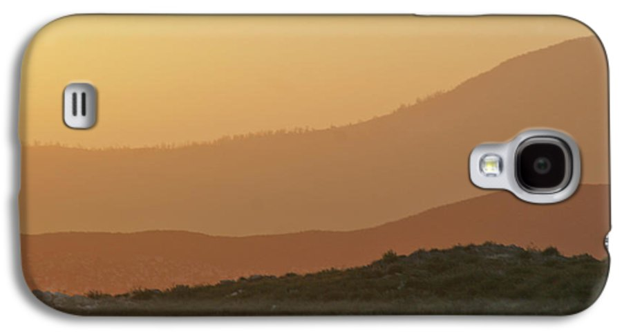 Sandstorm Galaxy S4 Case featuring the photograph Sandstorm During Sunset On Old Highway Route 80 by Christine Till