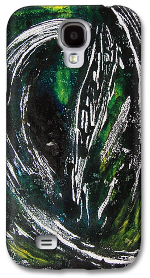Abstract Galaxy S4 Case featuring the painting Sans Fin by Muriel Dolemieux