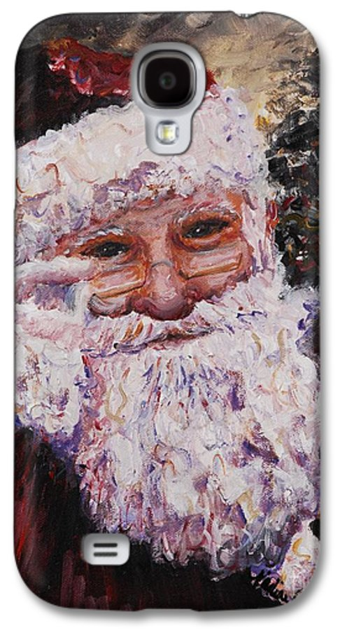 Santa Galaxy S4 Case featuring the painting Santa Chat by Nadine Rippelmeyer