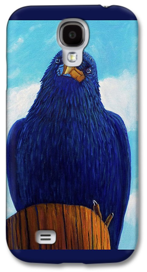 Raven Galaxy S4 Case featuring the painting Santa Fe Smile by Brian Commerford