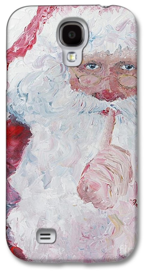Santa Galaxy S4 Case featuring the painting Santa Shhhh by Nadine Rippelmeyer