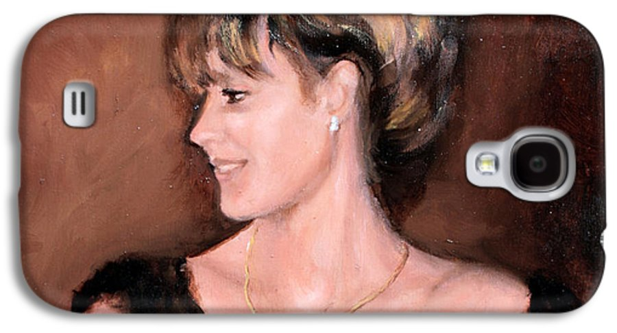 Portrait Galaxy S4 Case featuring the painting Sara by Mario Zampedroni