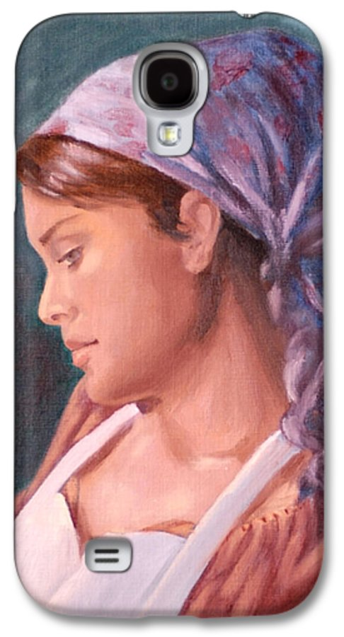 Maid Galaxy S4 Case featuring the painting Sarah The Kitchen Maid After Johnnie Liliedahl by Quwatha Valentine