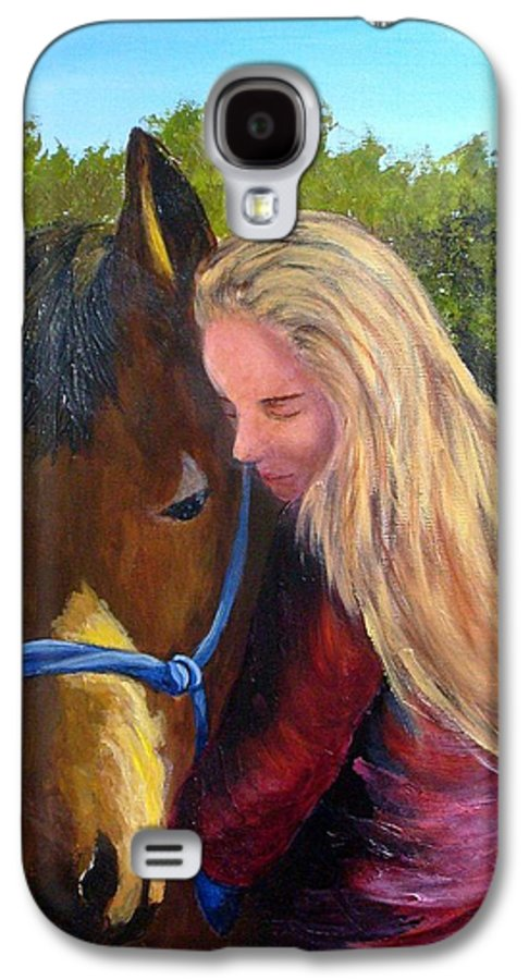 Galaxy S4 Case featuring the painting Sasha And Chelsea by Tami Booher