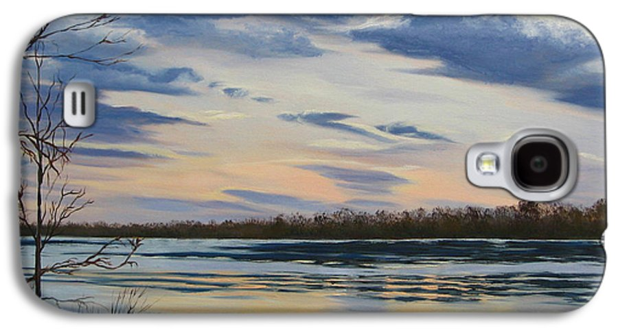 Clouds Galaxy S4 Case featuring the painting Scenic Overlook - Delaware River by Lea Novak