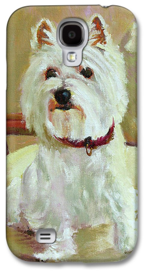 Pet Galaxy S4 Case featuring the painting Schatzie by Keith Burgess