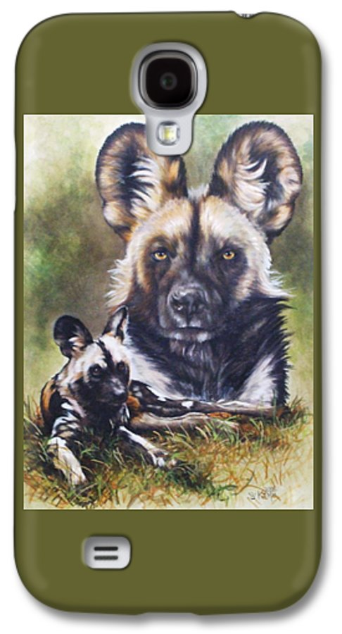 Wild Dogs Galaxy S4 Case featuring the mixed media Scoundrel by Barbara Keith