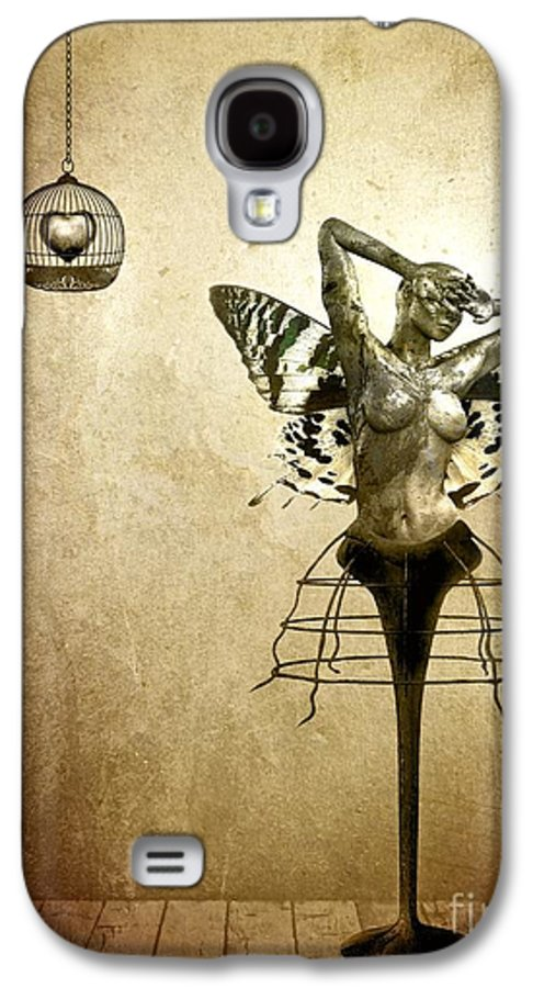 Digital Galaxy S4 Case featuring the painting Scream Of A Butterfly by Jacky Gerritsen