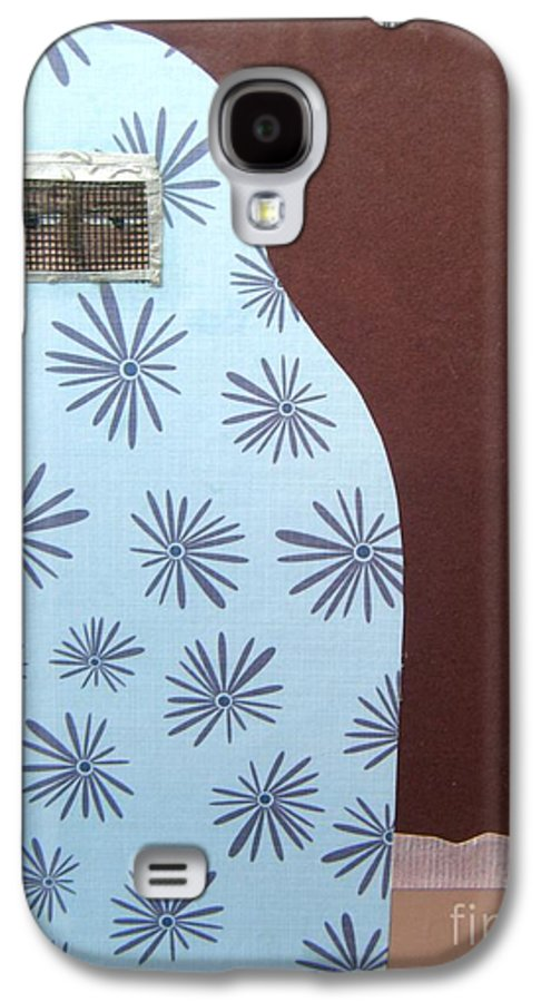 Woman Galaxy S4 Case featuring the mixed media Screen To The World by Debra Bretton Robinson