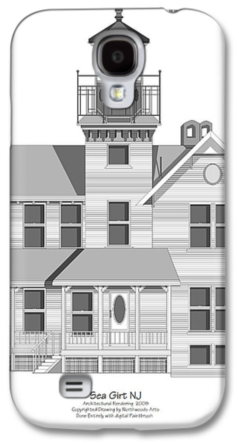 Lighthouse Galaxy S4 Case featuring the painting Sea Girt New Jersey Architectural Drawing by Anne Norskog