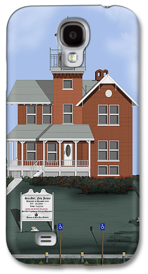 Lighthouse Galaxy S4 Case featuring the painting Sea Girt New Jersey by Anne Norskog