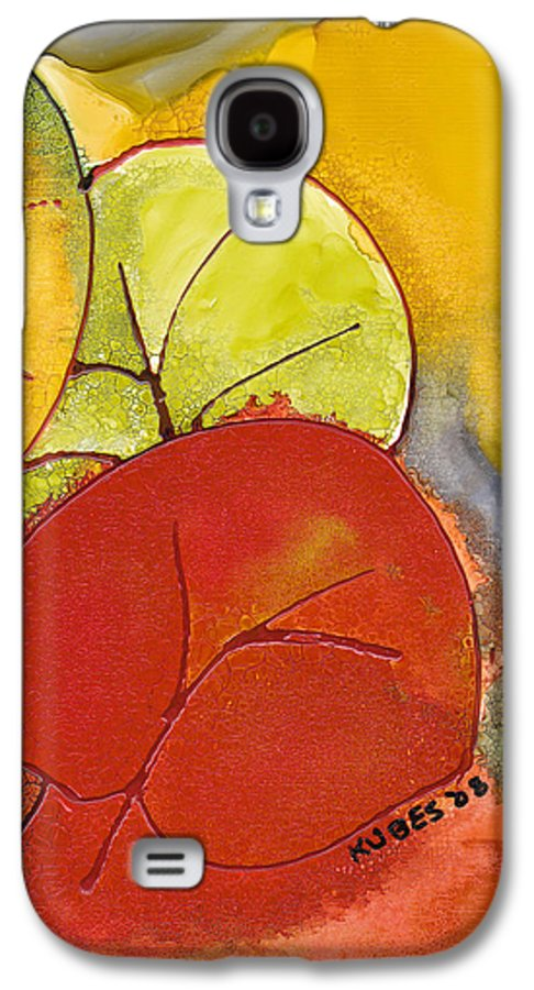 Leaf Galaxy S4 Case featuring the painting Sea Grapes by Susan Kubes