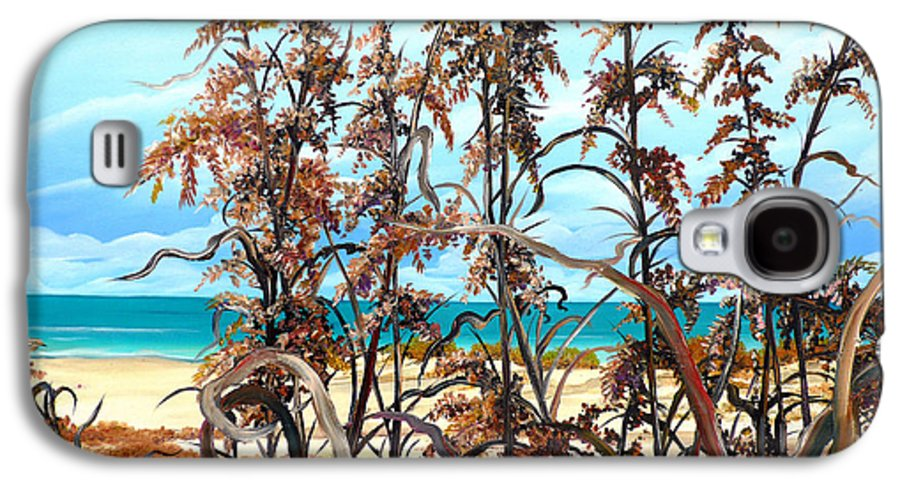 Ocean Painting Sea Oats Painting Beach Painting Seascape Painting Beach Painting Florida Painting Greeting Card Painting Galaxy S4 Case featuring the painting Sea Oats by Karin Dawn Kelshall- Best