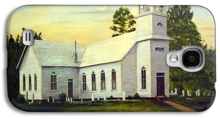 Church Galaxy S4 Case featuring the painting Seaford Zion Methodist Church by Anne Kushnick