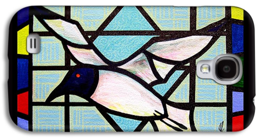 Seagull Galaxy S4 Case featuring the painting Seagull Serenade by Jim Harris