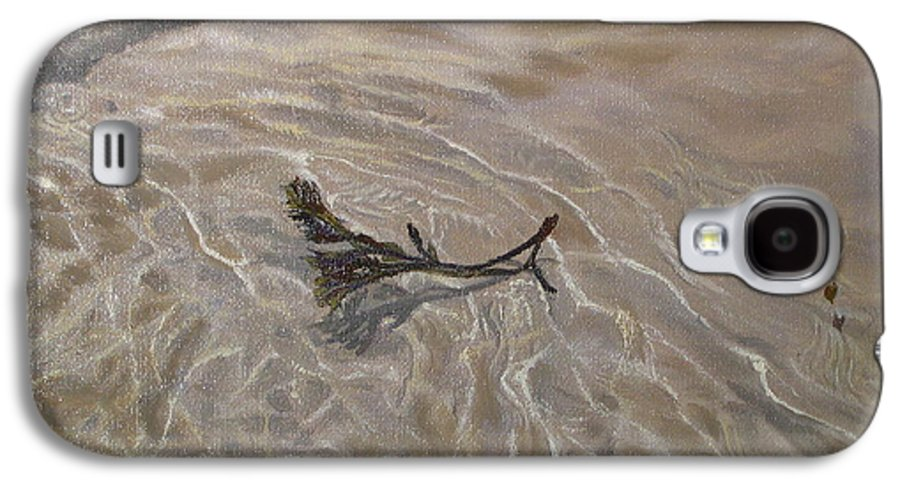 Seascape Galaxy S4 Case featuring the painting Seashore Reflections by Lea Novak