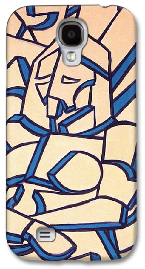 Girl Galaxy S4 Case featuring the painting Seated Women by Thomas Valentine