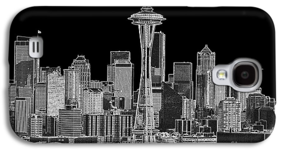 Black And White Galaxy S4 Case featuring the photograph Seattle Black And White by Larry Keahey
