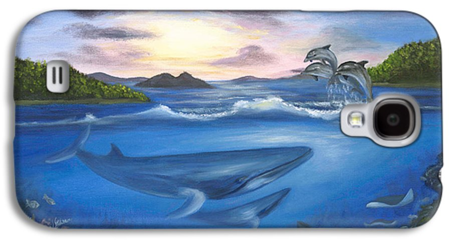 Landscape Galaxy S4 Case featuring the painting Seaworld by Anne Kushnick