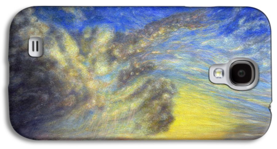 Coastal Decor Galaxy S4 Case featuring the painting Secret Beach Sunset by Kenneth Grzesik