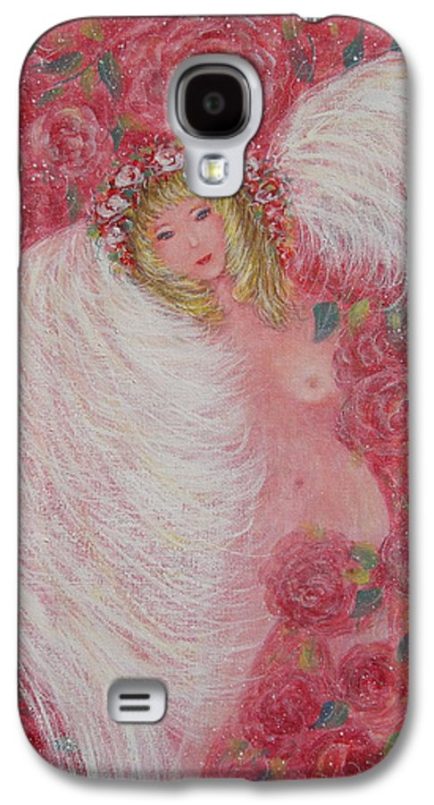 Angel Galaxy S4 Case featuring the painting Secret Garden Angel 6 by Natalie Holland
