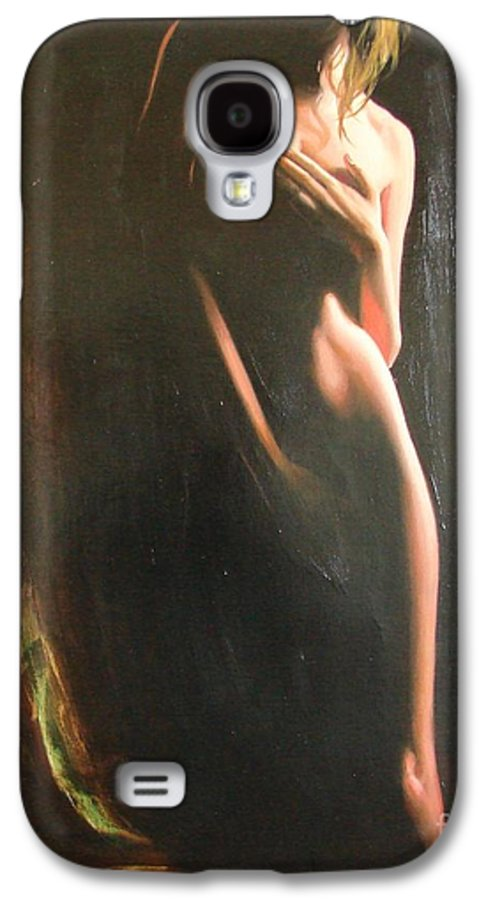 Art Galaxy S4 Case featuring the painting Secrets by Sergey Ignatenko