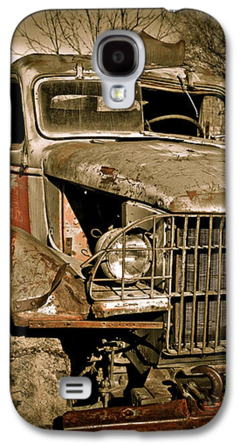 Old Vintage Antique Truck Worn Western Galaxy S4 Case featuring the photograph Seen Better Days by Marilyn Hunt