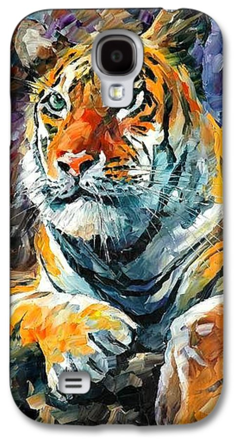 Painting Galaxy S4 Case featuring the painting Seibirian Tiger by Leonid Afremov