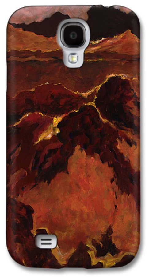 Abstract Galaxy S4 Case featuring the painting Seismic Shift by Tara Moorman