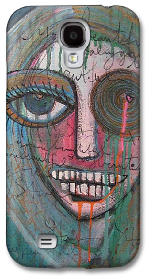 Self Portraits Galaxy S4 Case featuring the painting Self Portrait Youre Beautiful by Laurie Maves ART