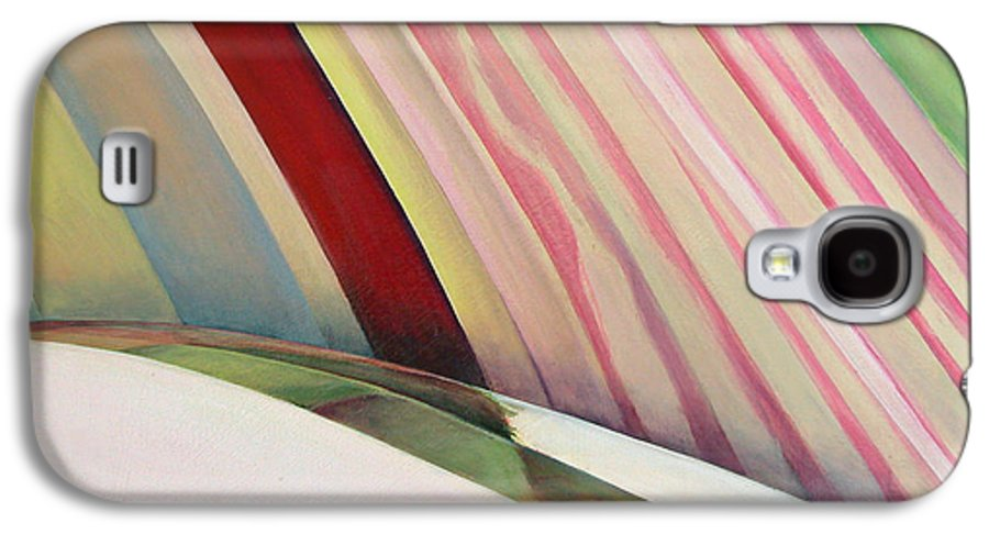 Abstract Galaxy S4 Case featuring the painting Sens 1 by Muriel Dolemieux