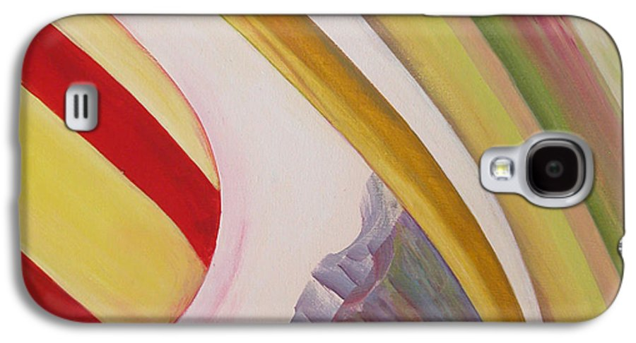 Abstract Galaxy S4 Case featuring the painting Sens 4 by Muriel Dolemieux