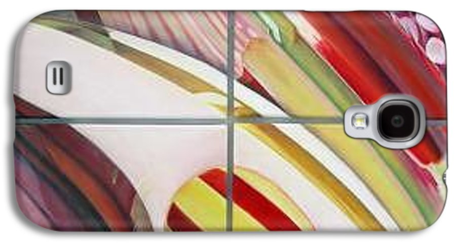 Abstract Galaxy S4 Case featuring the painting Sens by Muriel Dolemieux