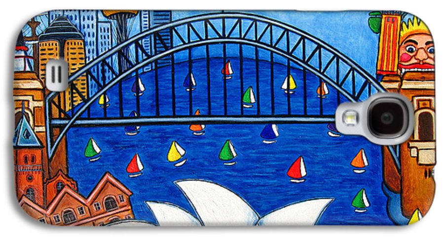 House Galaxy S4 Case featuring the painting Sensational Sydney by Lisa Lorenz