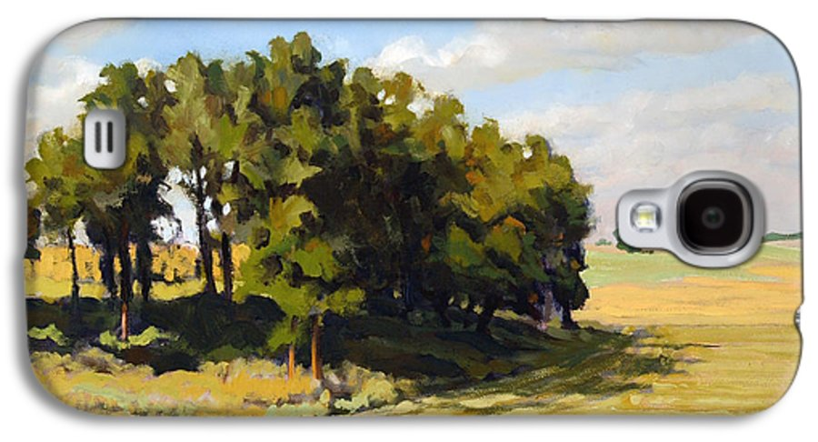 Landscape Galaxy S4 Case featuring the painting September Summer by Bruce Morrison