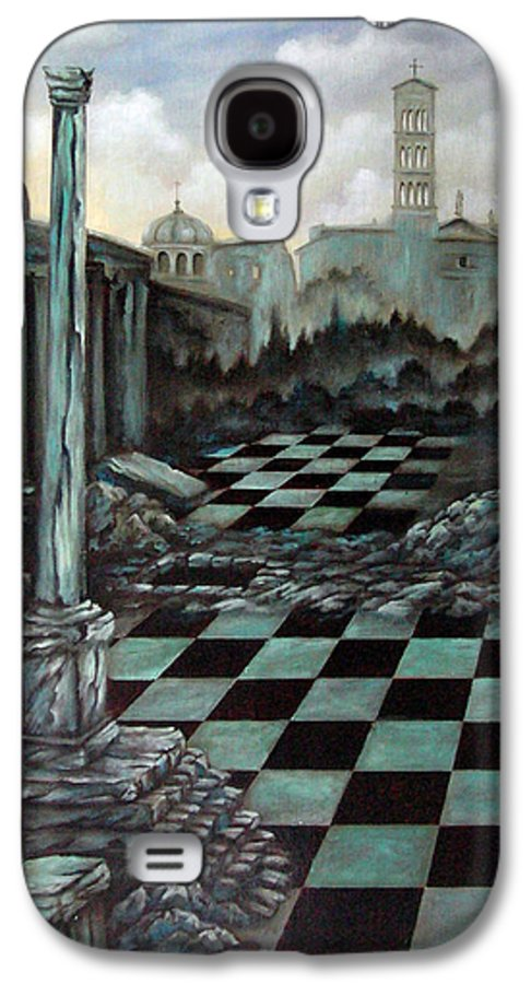 Surreal Galaxy S4 Case featuring the painting Sepulchre by Valerie Vescovi