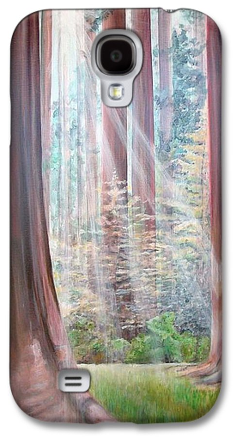 Landscape Galaxy S4 Case featuring the painting Sequoia by Muriel Dolemieux